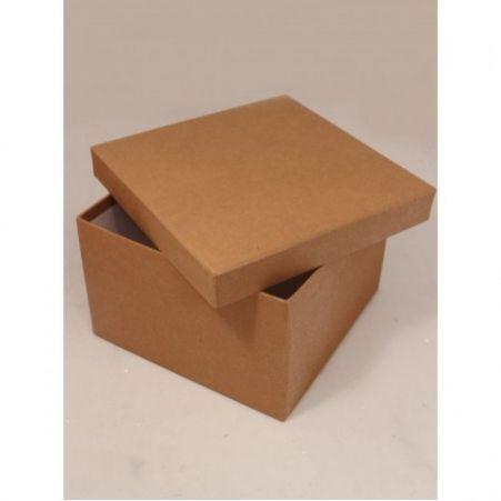 ККО18*18*10,5 Коробка квадратная крафт однотонный