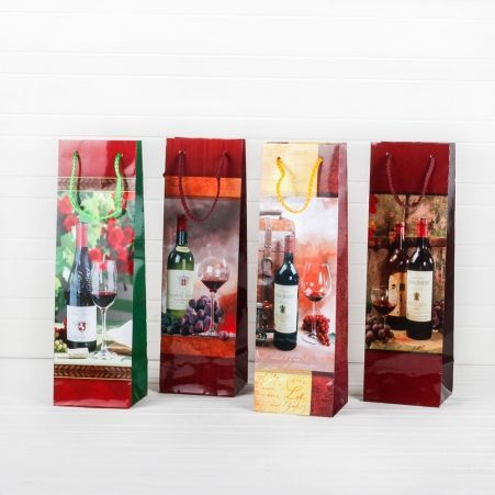 018М Пакет ламинир.п/бутылку в асс-те (10*33*8,8)(20шт/уп)