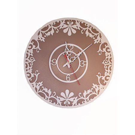 "801/012-3(Sale) Часы d-40 (Капучино)(Коллекция ""Кружева"")"
