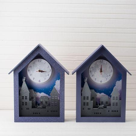 """801/015 Часы с подсветкой """"Луна"""" 28*43 см"""