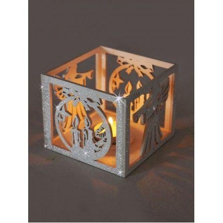"""808/007-2(Sale) Подсвечник Куб """"Ангел+свеча"""" со свечой"""