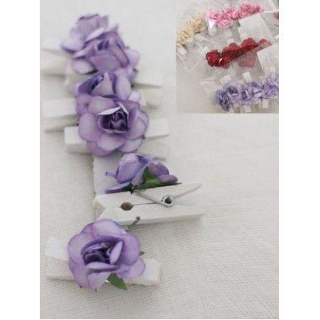 31/0014Р(Sale) Розочка на прищепке цв. в асс.