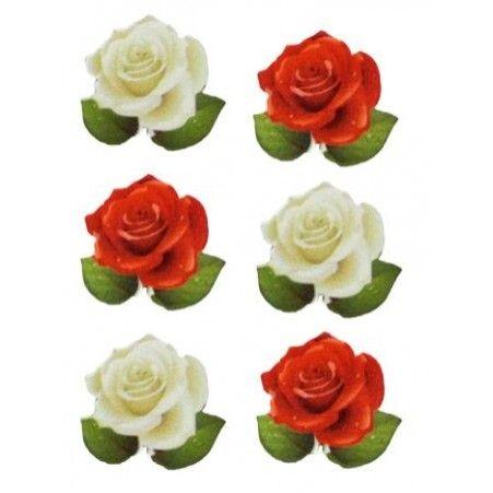 31/0094P(Sale) Цветок деревянный на липучке (24шт.в уп)