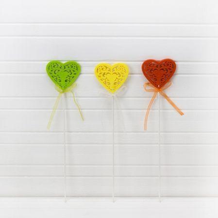 31/4375P(Sale) Сердце из войлока на пике цв. в асс.