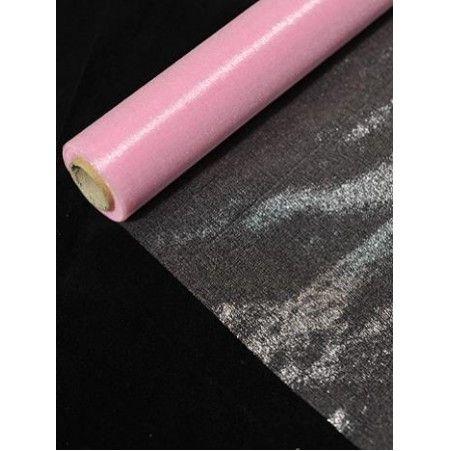 Органза(Sale) 36-40см*9м (розовая) (L)