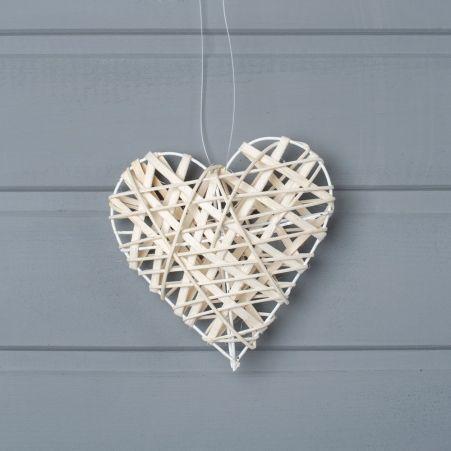 39/0123О (Sale) Сердце плетен. 12см подвес