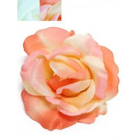 406/0088В Голова розы сатиновая (12шт в уп-ке)