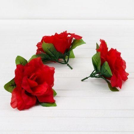 406/0675B Голова розы с гипсофилой 12см(12шт в уп)