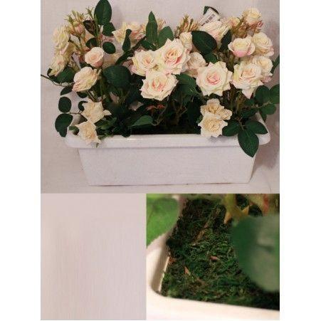 """Ц425-1(Sale) Франц. балкон .""""Роза"""" (кремов.) 40см"""
