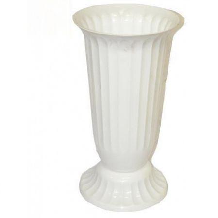 Ваза пластиковая п/цветы D15см рифленая