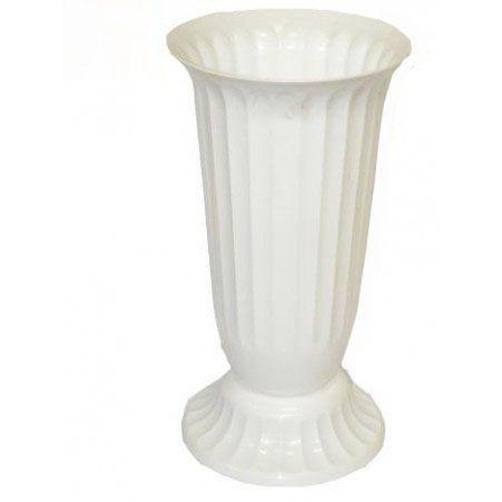Ваза пластиковая п/цветы D22см рифленая