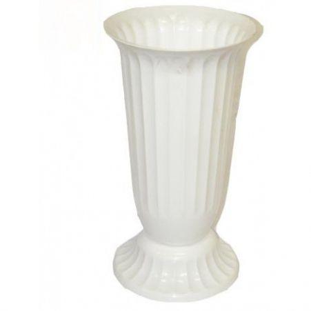 Ваза пластиковая п/цветы D27см рифленая