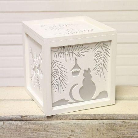 """816/06-1(Sale) Куб с подсветкой """"Кошка"""" 14*14*14"""