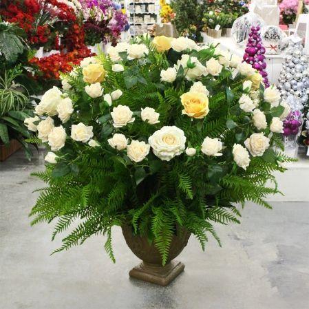 Композиция напольная цветоч. высота 70см