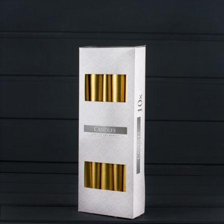 Свеча гладкая S30 мет. золото (10 шт.) 213