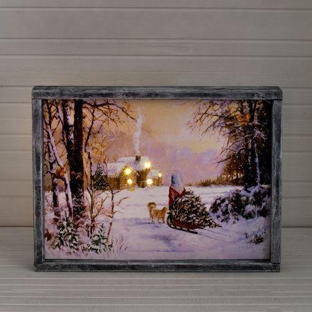 """807/050-3(Sale) Инт. картина """"Девочка"""" со светодиод.h29"""