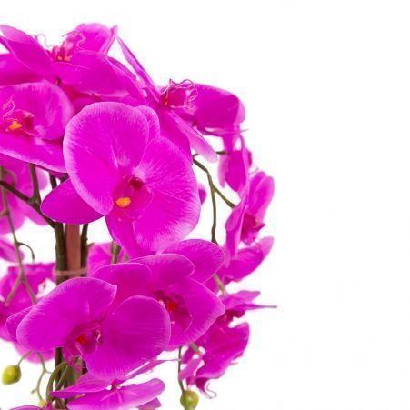 ЦК80*5/33-2 Орхидея Фаленопсис(малиновая)h65см(латекс) в интерьерном кашпо