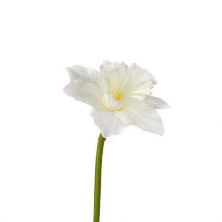 401/0410-23А Нарцисс искусственный одиночный  h 50см белый