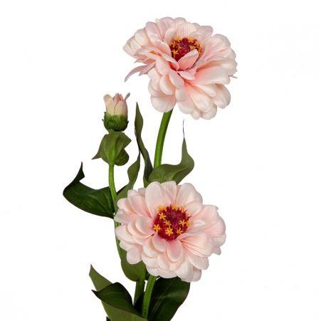 401/0127-1А Циния искусственная h 60см розовая (2г.1б.)