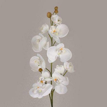 401/0438-23А Орхидея искусственная h-84см белая  (3в 10г)