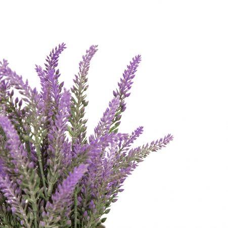 ЦС83-1 Лаванда-соцветие h20см фиолетовая в кашпо d11см