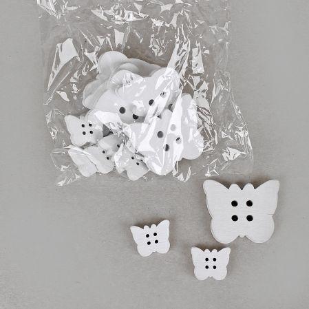 22/0526BZ(Sale) Бабочки декор дерев.(2,5-5см)(16шт/уп)