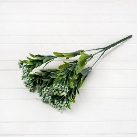 7143/0016-10 Ветка брусничника с ягодами h-31см (цветн.микс)