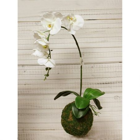 """ККД55/216 Кокедама d-15 """"Орхидея""""белая(латекс)"""
