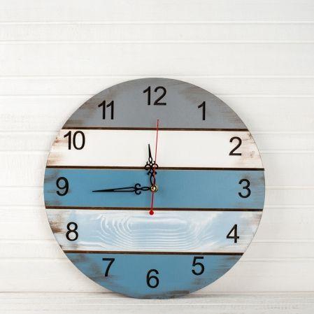 801/021(Sale) Часы (Синяя коллекция) d35см