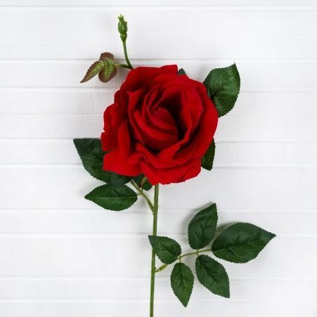 7141/0171-4 Роза бархатная (d-11см; h-69см) красная