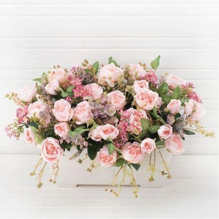 Ц442-5 Француз. балкон Роза мелк.(розовая)(50.h-33
