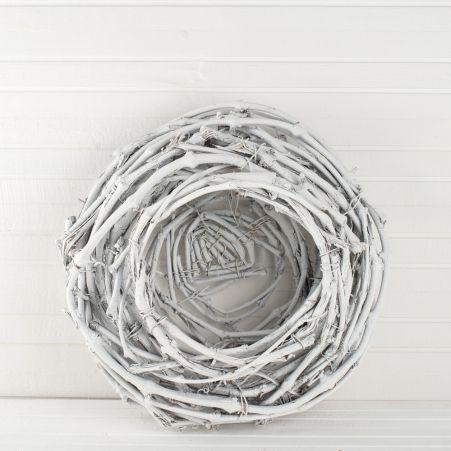 Гнездо плетеное  (белое) d-30,h-15