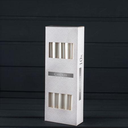 Свеча гладкая S30 бел/перлам, (10 шт.) 190