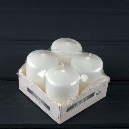 Свеча-цилиндр 40*60 бел.(из 4х)(090)
