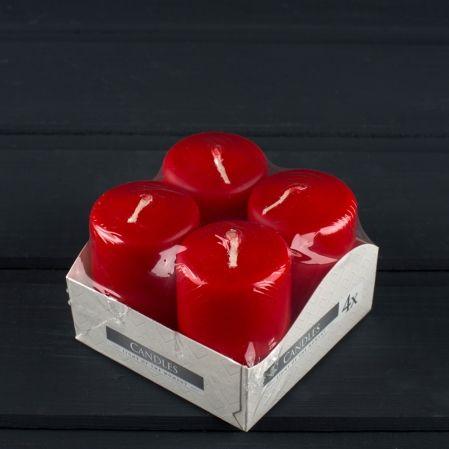 Свеча-цилиндр 40*60 красный ( из 4х)  030