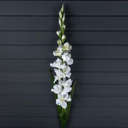 401/0001-23А  Гладиолус искусственный h 110см белый