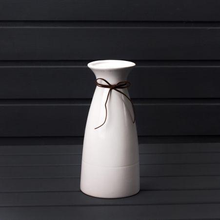 708/0712-11/2 (Sale) Ваза керамическая белая h23