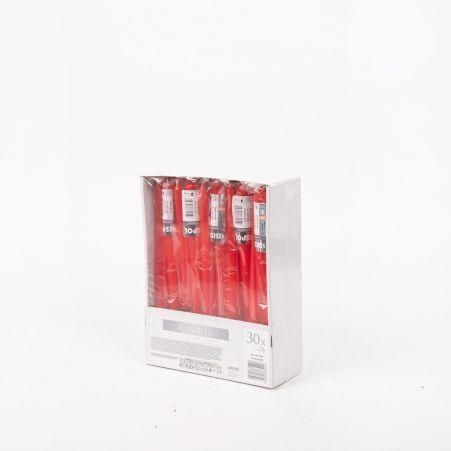 Свеча гладкая S30-1 красн. (30шт/уп)(S30-1-030)