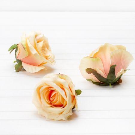 406/0080В Роза сатиновая голова(в уп. 12 шт.)