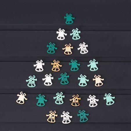 11/6100С Колокольчики дерев.цветн.(3х2,5см)(24шт/уп)