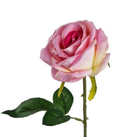 7141/0044-2Р Роза искусственная  бархатная h 67 см (микс)