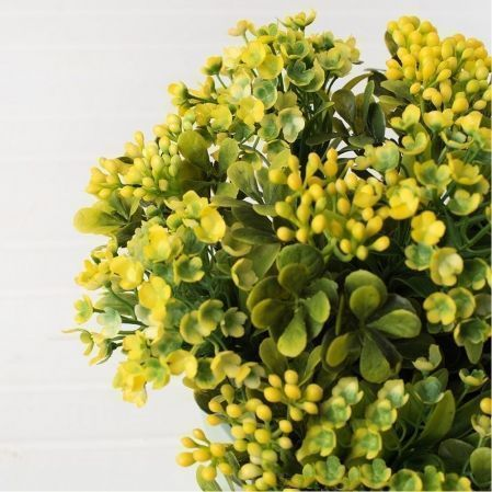 КС/О36-2 Эуфорбия (желтый.) в декорат. кашпо h-22см