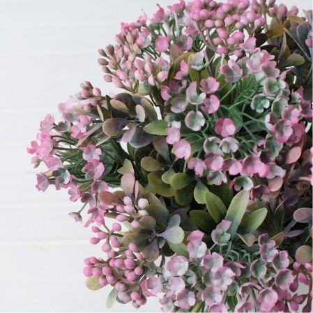 КС/О36-3 Эуфорбия (розов.) в декорат. кашпо h-22см