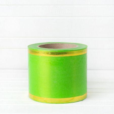 100 мм*45 м Лента зол. полоса/метал.в асс-те (Р)