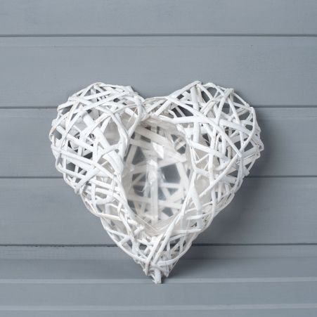 39/7192м (Sale) Кашпо сердце плетен.белое (24х27см)