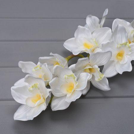401/0565-23А Орхидея Цимбидиум h 87см белая