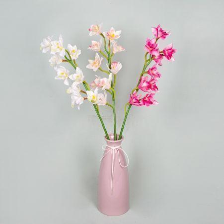 401/0566А Орхидея Цимбидиум сатиновая h75см