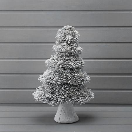 743/00501(Sale) MQ ёлка из крупных шишек белая 47см (8)