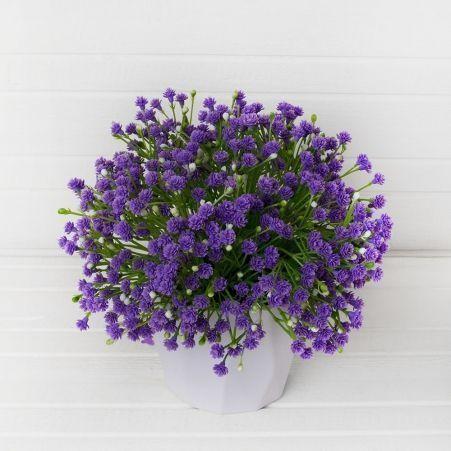 КС/О51-1 Гипсофила (фиолет.) в декор.кашпо h-21см