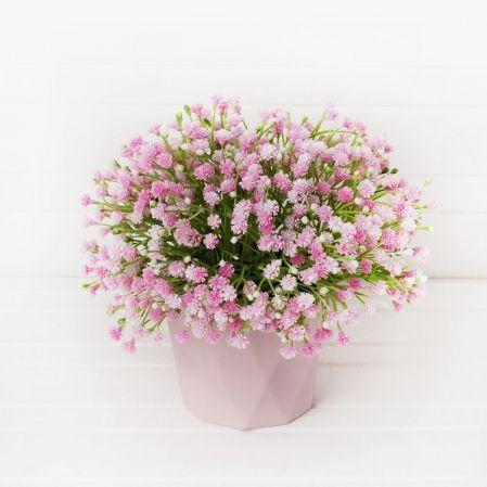 КС/О51-2 Гипсофила розовая в декоративном кашпо h21см